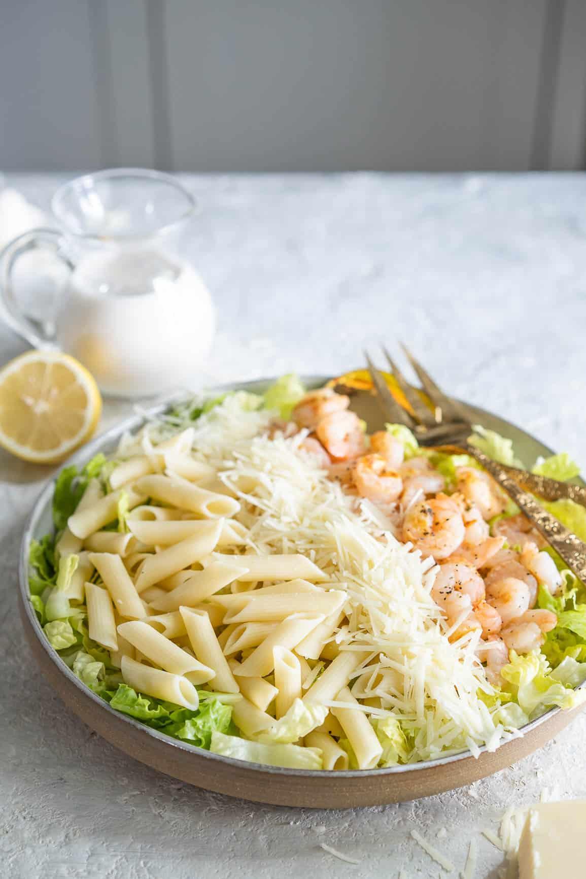 Shrimp Caesar Pasta Salad Recipe