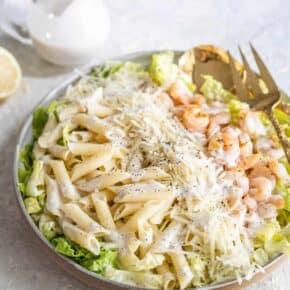 Shrimp Caesar Pasta Salad Recipe