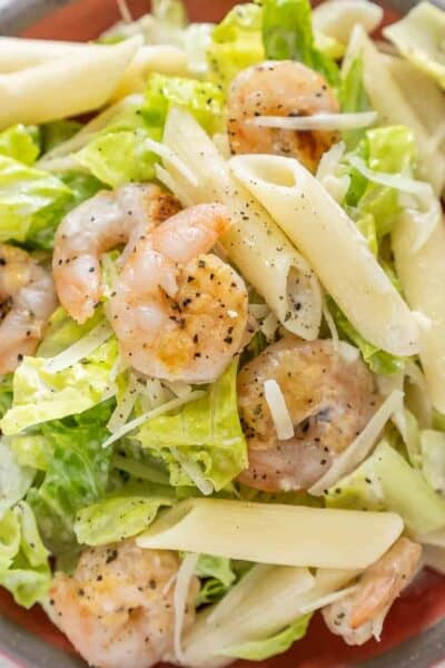 Shrimp Caesar Pasta Salad