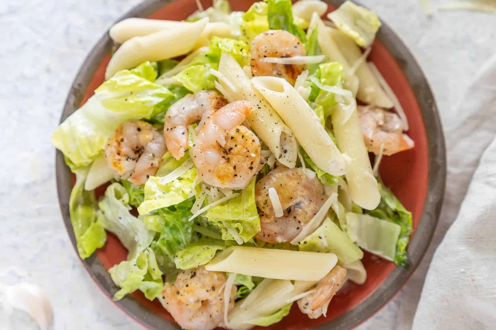 Shrimp Caesar Pasta Salad
