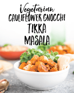 Vegetarian Cauliflower Gnocchi Tikka Masala Recipe