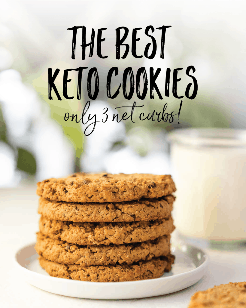 The Best Keto Cookies only 3 net carbs for Pinterest