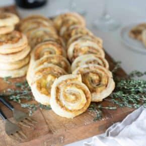 Puff Pastry French Onion Soup Spirals with Jarlsberg Cheese