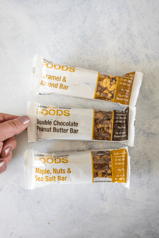 California Gold Nutrition Snack Bars in packaging.