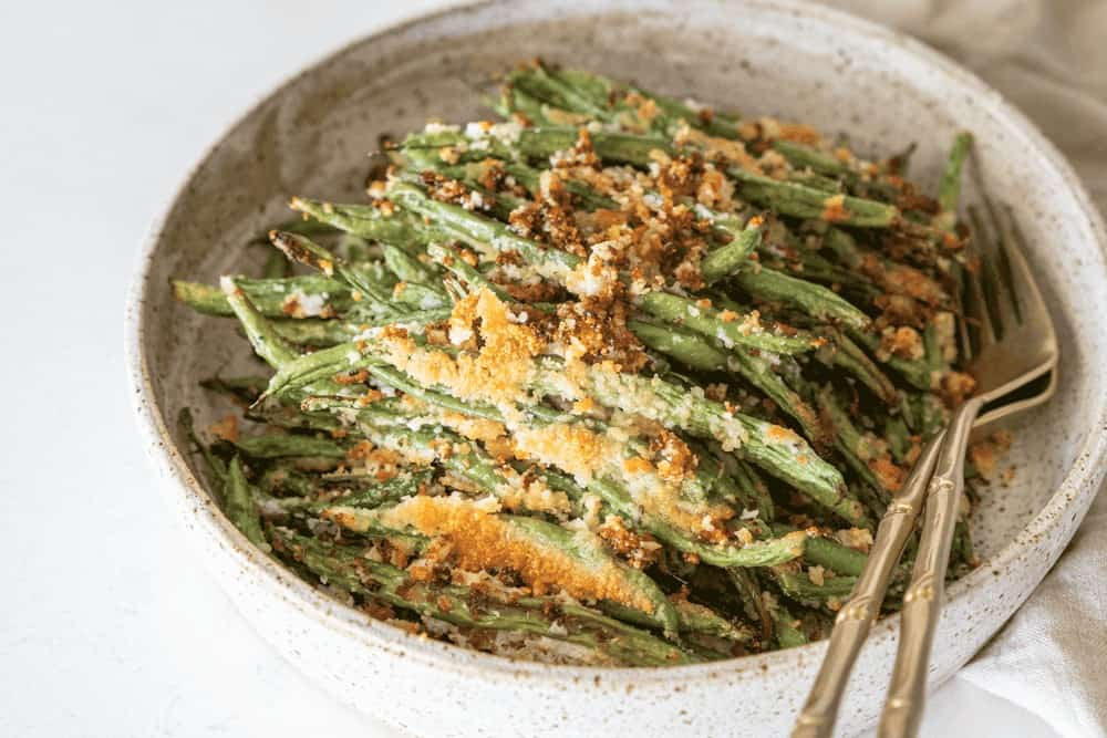 Easy Roasted Garlic Parmesan Green Beans