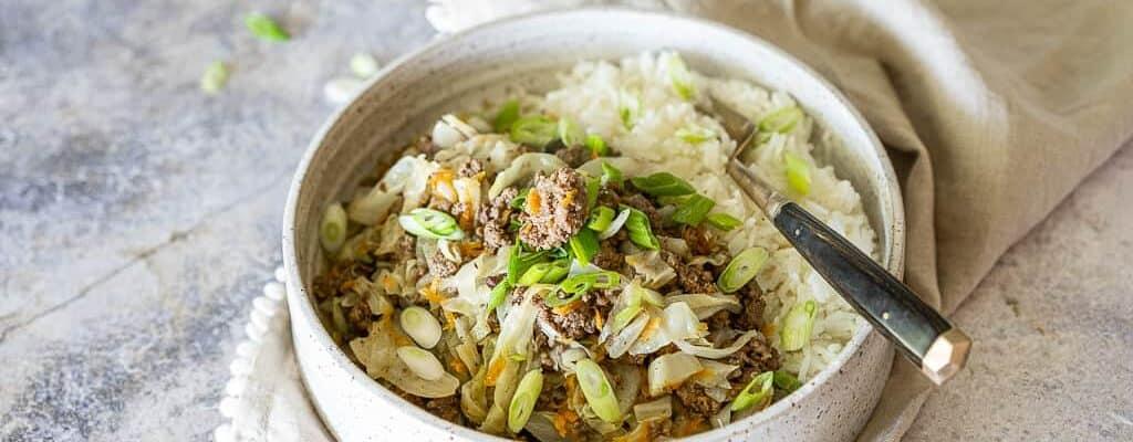 Keto Beef & Cabbage Bowl