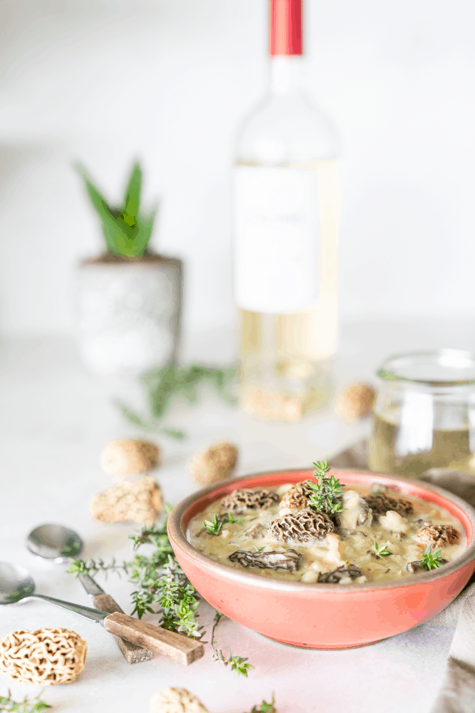 This Creamy Morel Mushroom Barley Soup is an easy and delicious way to get your mushroom fix in a healthy way. Can be made with either fresh or dried morel mushrooms.