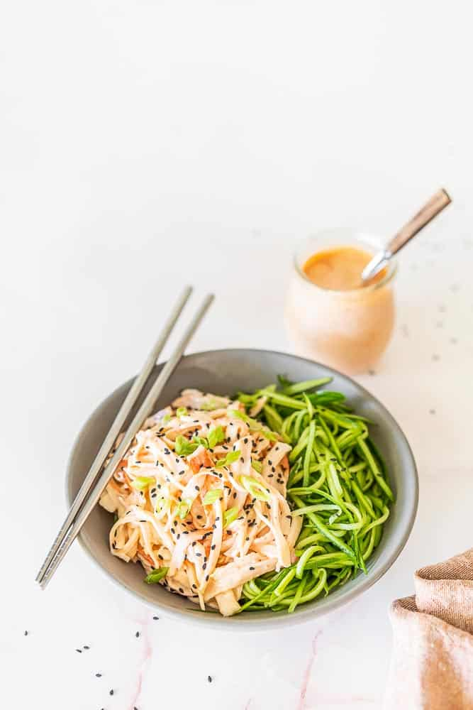 The Best Spicy Crab Kani Salad Recipe {Gluten-Free}
