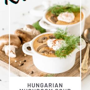 Keto Hungarian Mushroom Soup Recipe