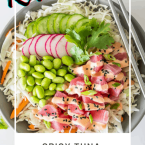 Easy Keto Spicy Ahi Tuna Poke Bowl Recipe