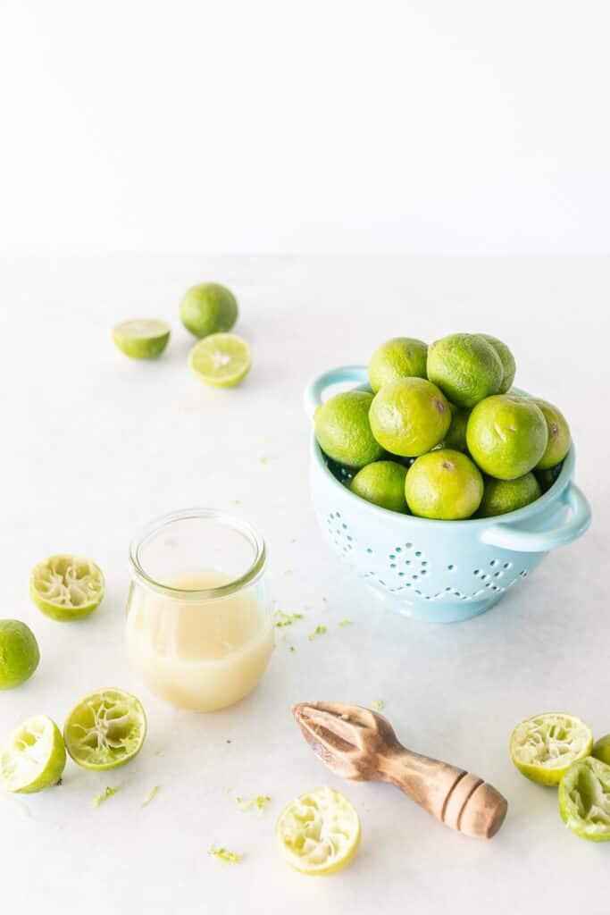 key limes and key lime juice