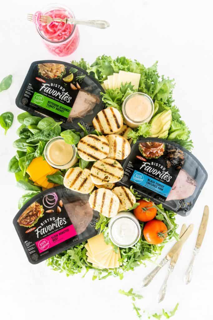 Grilled Crostini Sandwich Charcuterie board