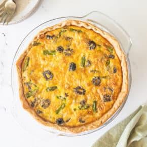 Morel Mushroom, Asparagus & Gruyere Quiche