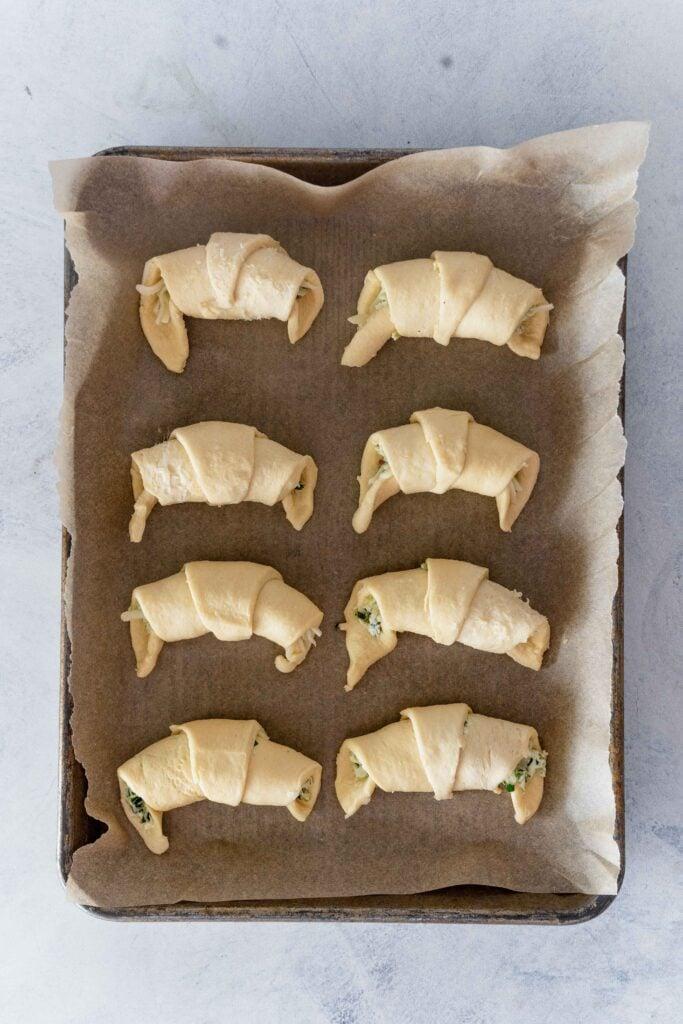 raw ramp filled crescent rolls