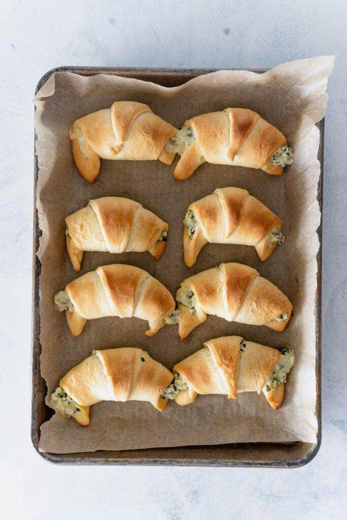 baked ramp filled crescent rolls