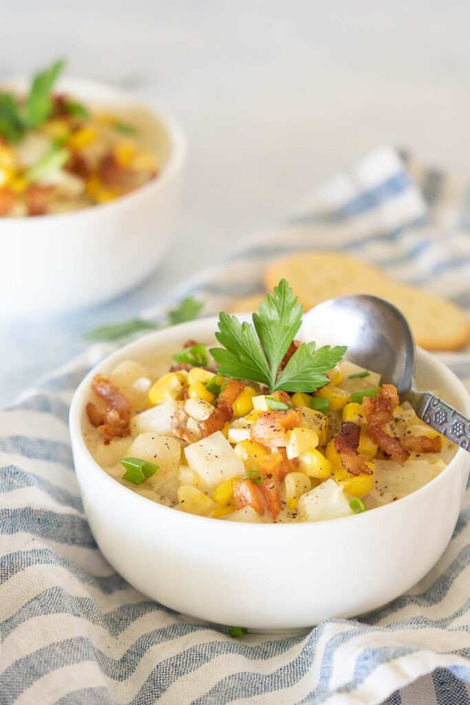 Potato Chowder with Corn and Bacon